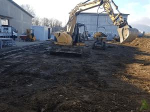 Terrassement d'un parking avec creuse de fouille - MK DT